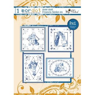 Bücher, Zeitschriften und CD / Magazines Hobby boek met 12 Borduurpatronen: Delfsblauw