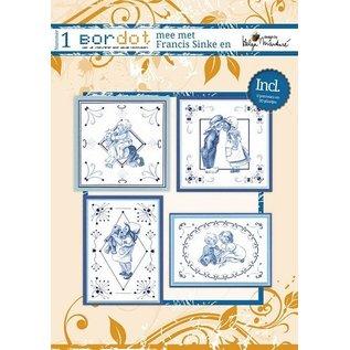 Bücher, Zeitschriften und CD / Magazines Hobby-Buch mit 12 Stickmustern: Delfsblue