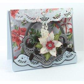 Marianne Design Troquelado y estampado en relieve plantilla: cuenco de la flor de Petra