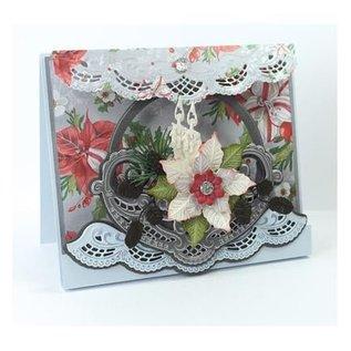 Marianne Design Ponsen en embossing sjabloon: Petra's Flower bowl