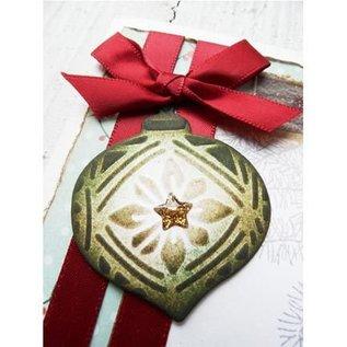 Marianne Design Ponsen en embossing sjabloon: Tiny's ornamenten ballen