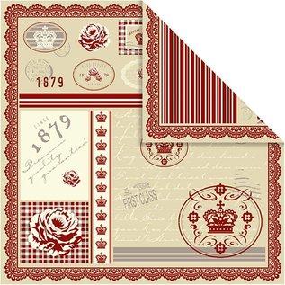 Designer Papier Scrapbooking: 30,5 x 30,5 cm Papier Design paper 5 sheet 30,5x30,5 cm, 120 g