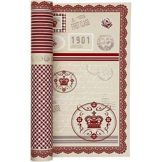 Designer Papier Scrapbooking: 30,5 x 30,5 cm Papier Papel de diseño de la hoja 5 30,5x30,5 cm, 120 g