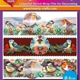 BASTELZUBEHÖR, WERKZEUG UND AUFBEWAHRUNG Magic shrink films, birds (⌀ 6 cm)