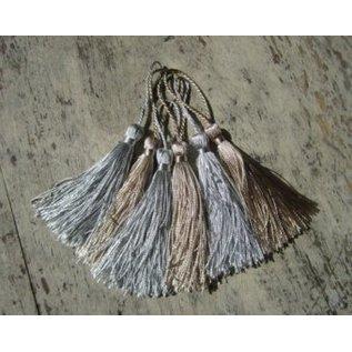 Embellishments / Verzierungen Tassel in zilver