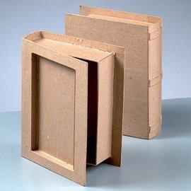 1 boîte en forme de livre, en relief la colonne vertébrale!