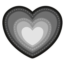 Marianne Design Punching and embossing template: Basic Heart
