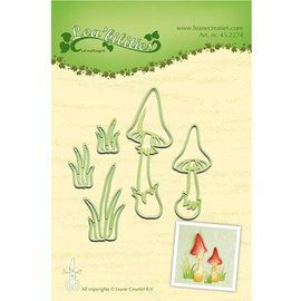 Leane Creatief - Lea'bilities und By Lene Ponsen en embossing sjabloon: Mushrooms