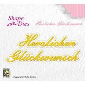 Nellie Snellen Punching and embossing template: Congratulations
