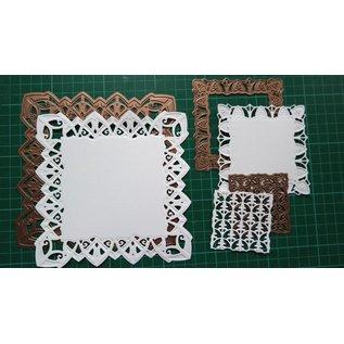 Spellbinders und Rayher Punzonatura e modello di goffratura: cornice decorativa rettangolo