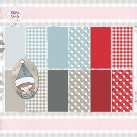 Karten und Scrapbooking Papier, Papier blöcke Designerblock, 15,5 x 15,5 cm, Basics