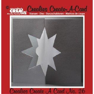 Crealies und CraftEmotions Ponsen en embossing sjabloon :. Card geen 26 punch