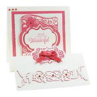 stamping and embossing folder: Flip Flop, Easel & Frame, Cassandra Garde