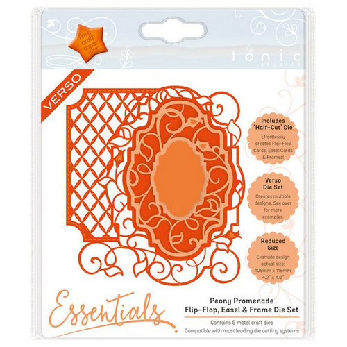 Tonic Studio´s stamping and embossing folder: Flip Flop, Easel & Borders