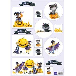 Bilder, 3D Bilder und ausgestanzte Teile usw... A4 broadsheet, Halloween