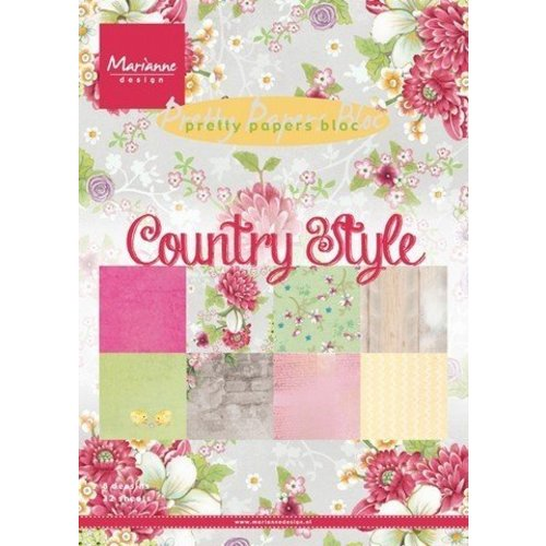 Marianne Design Pretty Papers Bloc Country Style (PK9130)