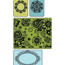 embossing Präge Folder Gofrado carpetas: Caída libre Florals Conjunto