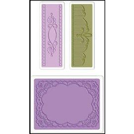 embossing Präge Folder Goffratura cartelle: Ovale Lace Set