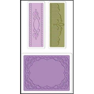 embossing Präge Folder Embossing mappen: Ovaal Lace Set