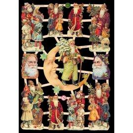 Bilder, 3D Bilder und ausgestanzte Teile usw... Kladjes, 10 Kerstthema