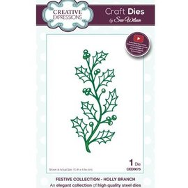 CREATIVE EXPRESSIONS und COUTURE CREATIONS Punching and embossing template: branch with berries