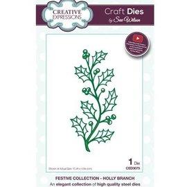 CREATIVE EXPRESSIONS und COUTURE CREATIONS Troquelado y estampado en relieve plantilla: rama con bayas