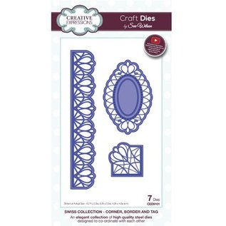 CREATIVE EXPRESSIONS und COUTURE CREATIONS Punching and embossing template: filigree corner, border and decorative frame