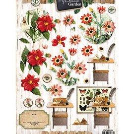 Vintage, Nostalgia und Shabby Shic hojas de corte 3D: Flores