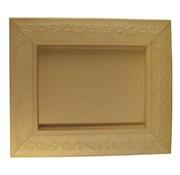 Objekten zum Dekorieren / objects for decorating Schadowbox, Setting: Ornament, rectangular, 31,5x37,5x2,5 cm
