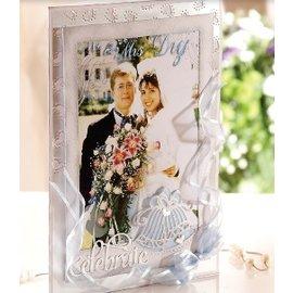 Die'sire Estampación y embutición de la plantilla de Diesire, campana de boda + esquinas del corazón