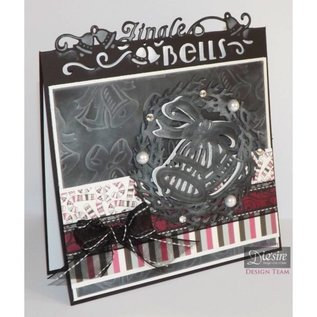 Die'sire Stamping and embossing stencil of Diesire, wedding bell + heart corners