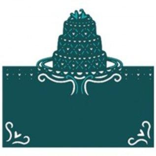 Die'sire Stampaggio e goffratura stencil di Diesire, torta, il cuore e gli angoli
