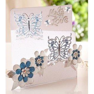Die'sire Stempelen en embossing stencil van Diesire, vlinder liefde