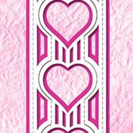 Nellie Snellen Punching and embossing template: popup heart