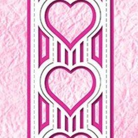 Nellie Snellen Troquelado y estampado en relieve plantilla: corazón emergente