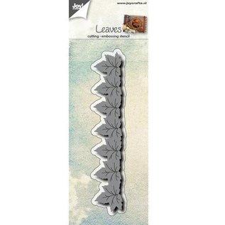 Joy!Crafts / Jeanine´s Art, Hobby Solutions Dies /  Estampación y embutición de la plantilla: Frontera con las hojas