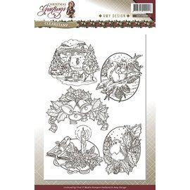 AMY DESIGN AMY DESIGN, gjennomsiktige frimerker, julemotiver