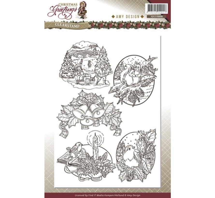AMY DESIGN, Transparent stamps, Christmas themes