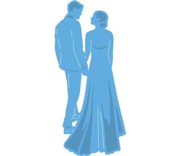 Marianne Design Ponsen en embossing sjabloon: jonggehuwden