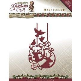 AMY DESIGN AMY DESIGN, Punching og prægning skabeloner: Reindeer Ornaments