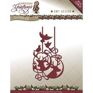 AMY DESIGN AMY DESIGN, Ponsen en embossing sjablonen: Ornamenten van het Rendier