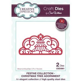CREATIVE EXPRESSIONS und COUTURE CREATIONS NEW: punching and embossing template: decorative border, Christmas
