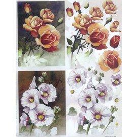 Bilder, 3D Bilder und ausgestanzte Teile usw... 3D Stanzbogen : Blumen