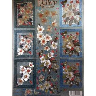 Bilder, 3D Bilder und ausgestanzte Teile usw... 3D Stanzbogen Metallic LOOK : Blumen