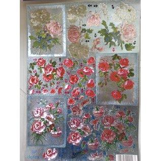Bilder, 3D Bilder und ausgestanzte Teile usw... 3D Die cut sheets Metallic LOOK: Flowers
