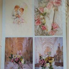 BILDER / PICTURES: Studio Light, Staf Wesenbeek, Willem Haenraets fogli Die cut 3d + 1 fondo lenzuola: Wedding