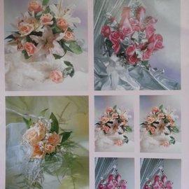 BILDER / PICTURES: Studio Light, Staf Wesenbeek, Willem Haenraets 3D fogli Die Cut + 1 fondo fogli: bouquet da sposa