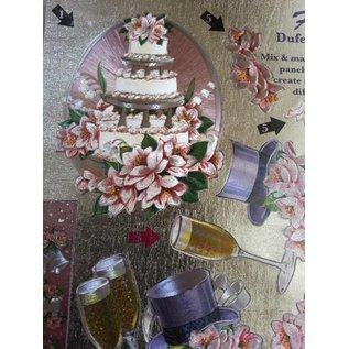 Bilder, 3D Bilder und ausgestanzte Teile usw... 3D Die cut sheets Metallic LOOK: Wedding