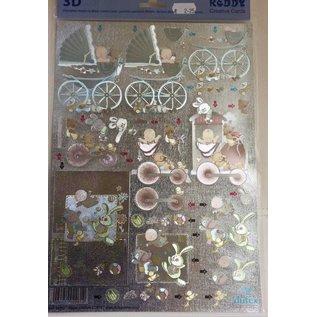 Bilder, 3D Bilder und ausgestanzte Teile usw... 3D Stanzbogen Metallic LOOK : Baby