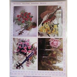 Bilder, 3D Bilder und ausgestanzte Teile usw... 3D Die cut sheets + 1 background sheets: bridal bouquets